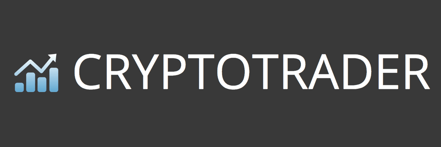 Crypto Trader logo dark background
