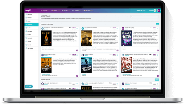 Kryll Marketplace view