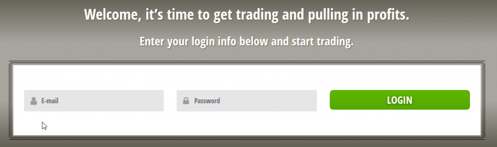 Crypto Genius login form empty